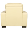 Shell One Seater Sofa in Ivory Leatherette by Sofab