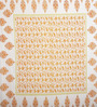 SHRA White & Yellow Cotton Floral Double Bed Sheet (with Pillow Covers)