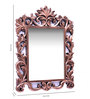 Adderly Decorative Mirror in Brown by Amberville