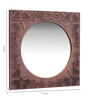 Cher Decorative Mirrors in Brown by Bohemiana