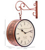 Adamczewska Wall Clock in Brown by Amberville