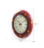 ShriNath Multicolour MDF 11.5 Inch Round Flower Rich Handicraft Wall Clock
