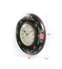 ShriNath Multicolour MDF 18 Inch Round Flower Painted Handicraft Beauty Wall Clock