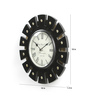 Shrinath Silver MDF 18 Inch Round  Handicraft Wall Clock