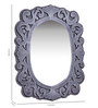 Addison Decorative Mirror in Silver by Amberville