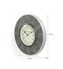 ShriNath Silver Metal and MDF 11.5 Inch Round Roman Handicraft Wall Clock