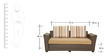 Siena Three Seater Sofa cum Bed in Camel Colour by Furnitech