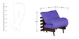 Single Futon with Mattress in Purple Colour by Auspicious Home