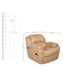 Siddis One Seater Manual Recliner Sofa in Beige Colour by Sofab
