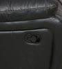 Siddis Three Seater Sofa in Black Leatherette by Sofab