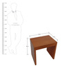Side Table in Ox Cherry Finish by Urban Influence