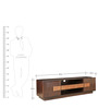 Sienna Solidwood TV Unit in Wenge & Oak Colour by HomeTown