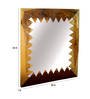 Siglo Wall Mirror in Brown by Bohemiana