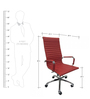 Sigma High Back Ergonomic Chair in Red Leatherette by Starshine