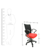 Signo Chair in Red Mesh by The Furniture Store