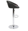 Simo Bar Chair in Black and Pink Color by The Furniture Store