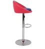 Simo Bar Chair in Pink and Blue Color by The Furniture Store