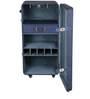 Single Door Leather Bar Cabinet in Blue Color by Studio Ochre