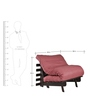 Single Futon Sofa cum Bed with Mattress in Carrot Colour by ARRA