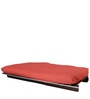 Single Futon Sofa cum bed With Mattress in Red Colour by ARRA