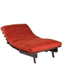 Single Futon Sofa cum Bed with Mattress in Rust Colour by ARRA