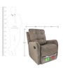 Single Seater Recliner in Freerider Chocolate Colour by Rubelli