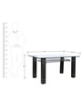 Six Seater Designer Dinning Table in Black Colour by Parin