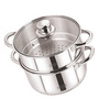 Sizzle Stainless Steel 2.5L Induction Steamer with Glass Lid