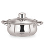 Sizzle Stainless Steel 2 L Belly Induction Kadai with Glass Lid