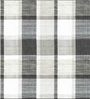 Skipper Black & White Polyester Checks Pattern Window Curtain - Set of 2