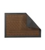 Skipper Brown PVC 24 x 16 Inch Subtle Design Door Mat