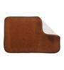 Skipper Brown Polyester 24 x 16 Inch Solids Bath Mat