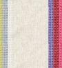 Skipper Multicolour Polyester & Cotton Stripes Pattern Window Curtain - Set of 2