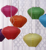 Skycandle Multicolour Diamond Paper Lantern - Set of 7