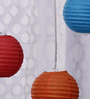 Skycandle Red, Blue, & Orange Paper Lantern - Set of 3