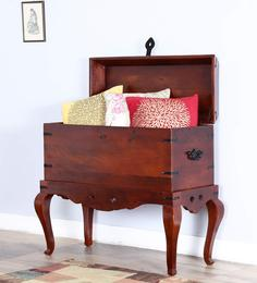 Slaney Trunk In Honey Oak Finish By Amberville - 1487562