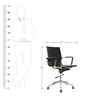 Sleek Design Ergonomic Mid Back Chair in Black Colour by Star India