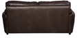 Small Stanley Three Seater Sofa in Dark Brown Leatherette by Sofab