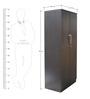 Smart Two Door Wardrobe in Wnge Colour by Crystal Furnitech
