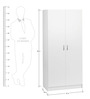 Snow White Two Door Wardrobe by Exclusive Furniture