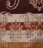Snuggles Brown Cotton Queen Size Bed Sheet - Set of 3