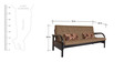 Metallic Sofa cum Bed  by FurnitureKraft