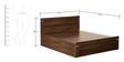 Solitaire King Bed with Box Storage in Acacia Dark Matt Finish by Debono