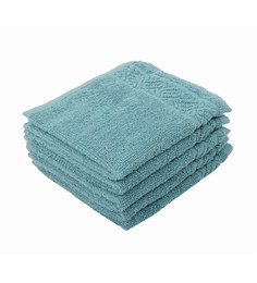Softweave Multicolour 100% Cotton 12 X12 Face Towel - Set Of 5 - 1590713