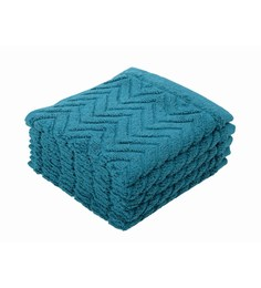 Softweave Multicolour 100% Cotton 12 X12 Face Towel - Set Of 5