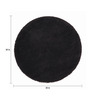 Sofiabrands Black Wool 30 x 30 Inch Low Pile Round Solid Carpet
