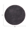Sofiabrands Grey Wool 30 x 30 Inch Low Pile Round Solid Carpet