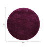 Sofiabrands Lilac Wool 30 x 30 Inch Low Pile Round Solid Carpet