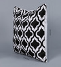 Solaj Black Cotton 18 x 18 Inch Metallic Cushion Cover