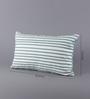 Solaj Blue & White Cotton 12 x 20 Inch Embroidered Cushion Cover